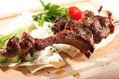 BBQ and Grilled Mutton Stock Photo