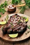 Bbq, grilled pork ribs royalty free stock image