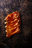 BBQ grilled pork ribs Royalty Free Stock Images