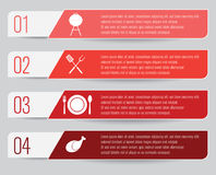 BBQ and Grilling Infographic. An infographic about BBQ and grilling with four options Royalty Free Stock Images
