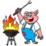 BBQ Grilling Pig Stock Photography