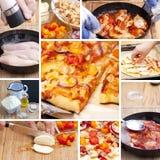 Bbq-Hühnertomaten-Pizza Stockbilder