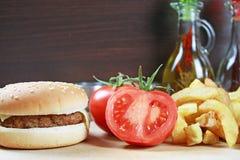 Bbq-hamburgare Fotografering för Bildbyråer