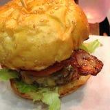 Bbq-hamburgare Royaltyfri Foto