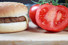 Bbq hamburger Royalty Free Stock Photo
