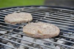 BBQ hamburgery Obrazy Royalty Free