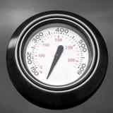 BBQ het Close-up van de Grillthermometer Stock Foto's