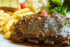 BBQ het lapje vlees van de Varkensvleesrib Stock Foto