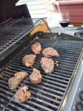 Bbq het lapje vlees van het rundvleeslendestuk Stock Foto's