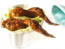 Bbq honey chicken wings Royalty Free Stock Photos