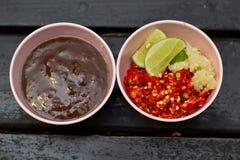 BBQ & Hot Pot sauce Royalty Free Stock Images