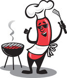 Bbq-Hotdog lizenzfreie stockbilder