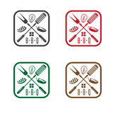 Bbq house with different products vector design Stock Images