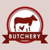 Bbq i butchery temat Obrazy Stock