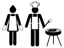 Bbq icon Stock Photography