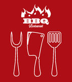 Bbq icon Stock Photo