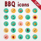 BBQ. Icon set. Royalty Free Stock Photography