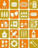 BBQ icons Stock Photography