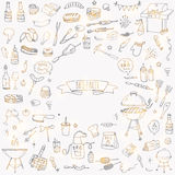 BBQ icons set Royalty Free Stock Image