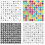 100 BBQ icons set vector variant. 100 BBQ icons set vector in 4 variant for any web design isolated on white Royalty Free Stock Images