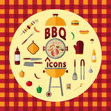 BBQ ikony set Fotografia Stock