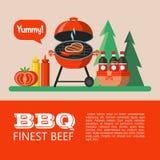BBQ Illustration de vecteur illustration de vecteur