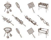 BBQ  image set Stock Image