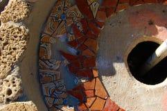 BBQ INACABADO DO MOSAICO DA TELHA, PORTUGAL Foto de Stock