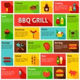 BBQ Infographics Ontwerp Royalty-vrije Stock Afbeelding