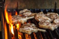 BBQ jagnięcy stojak Zdjęcia Royalty Free