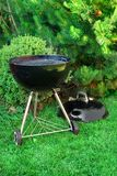 BBQ Kettle Grill Appliance On The Backyard Stock Image