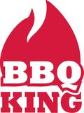 BBQ king with flame. Vector Stock Photo