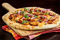 BBQ Kippenpizza Stock Foto's