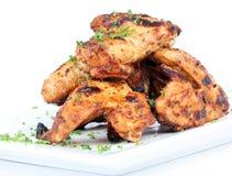 BBQ kippenvleugels Stock Afbeeldingen