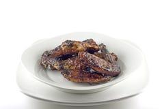 BBQ Kippenvleugels Stock Afbeelding
