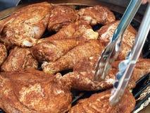bbq kurczaka cookout grill przygotowywający obrazy royalty free