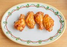 bbq kurczaka korzenni skrzydła Fotografia Royalty Free