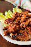 bbq kurczaka skrzydła Obrazy Stock