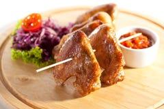 BBQ kurczaka skrzydła Zdjęcia Stock