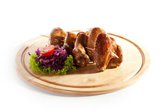 BBQ kurczaka skrzydła Obraz Stock