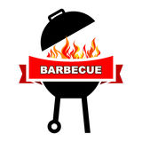 BBQ label design. Stock Images