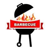 BBQ label design. Stock Images