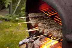 BBQ Lamb Kebabs Royalty Free Stock Photography
