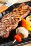 BBQ lapje vleesdiner - grill Royalty-vrije Stock Foto's