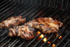 BBQ lapjes vlees royalty-vrije stock foto
