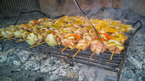 Bbq. LG-H815. Prepering the food on bbq Royalty Free Stock Photos