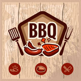 Bbq logo 2. Fast food and BBQ Grill elements, Typographical Design Label or Sticer. Design Template. Vector illustration vector illustration
