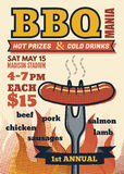 Bbq mania party for invitation Stock Photos