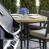 BBQ mantendo distraído de jantar exterior Imagem de Stock Royalty Free