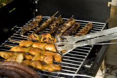 BBQ meat on grill Royalty Free Stock Photo